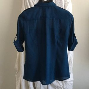 H&M Tops - Dark teal women's collared button up